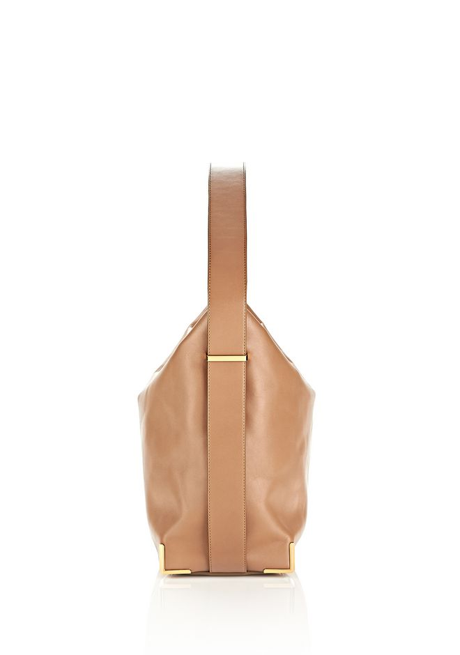 ALEXANDER WANG PRISMA SKELETAL HOBO IN LATTE WITH YELLOW GOLD TOTE/DEL Adult 12_n_d