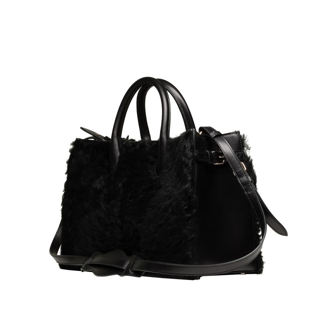 BALENCIAGA Top handle bag D Balenciaga Padlock Nude Work XS Merino Sheep i