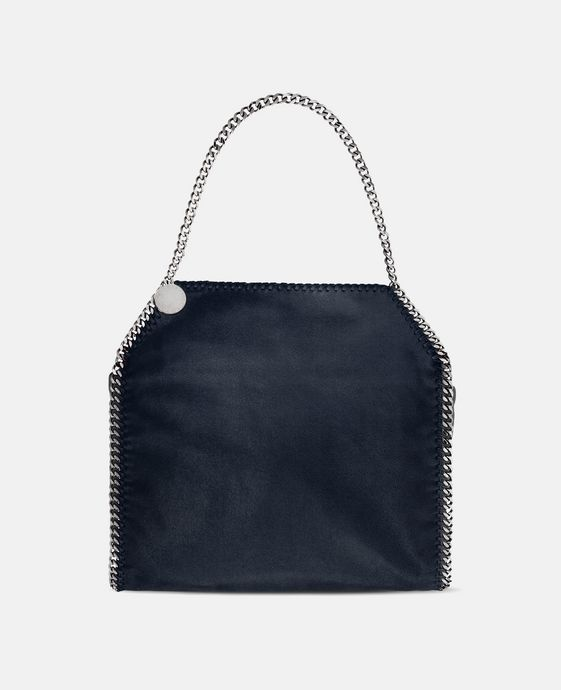 STELLA McCARTNEY Navy Falabella Shaggy Deer Small Tote Tote D c