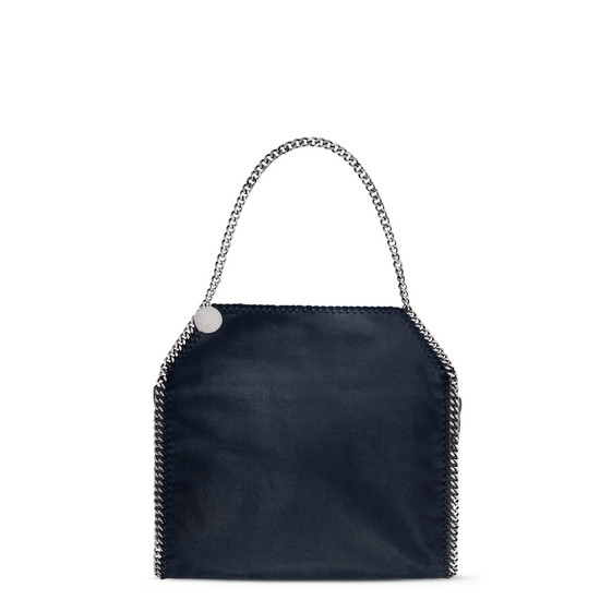 Navy Falabella Shaggy Deer Small Tote