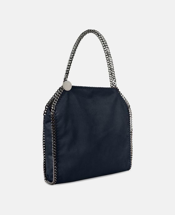 STELLA McCARTNEY Navy Falabella Shaggy Deer Small Tote Tote D h
