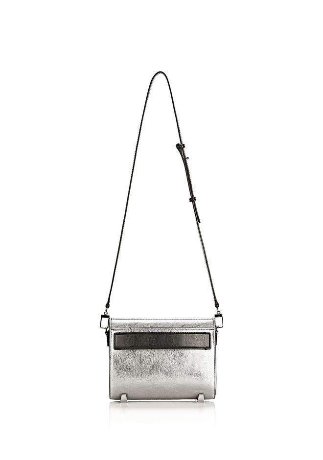 ALEXANDER WANG CHASTITY MINI SLING IN SILVER WITH RHODIUM Shoulder bag Adult 12_n_d