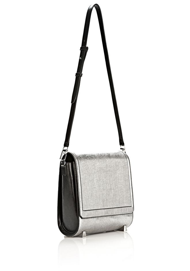 ALEXANDER WANG CHASTITY MESSENGER IN SILVER WITH RHODIUM Shoulder bag Adult 12_n_e