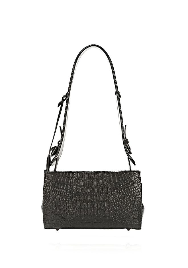 ALEXANDER WANG PELICAN SLING IN EMBOSSED MATTE BLACK WITH MATTE BLACK Shoulder bag Adult 12_n_a