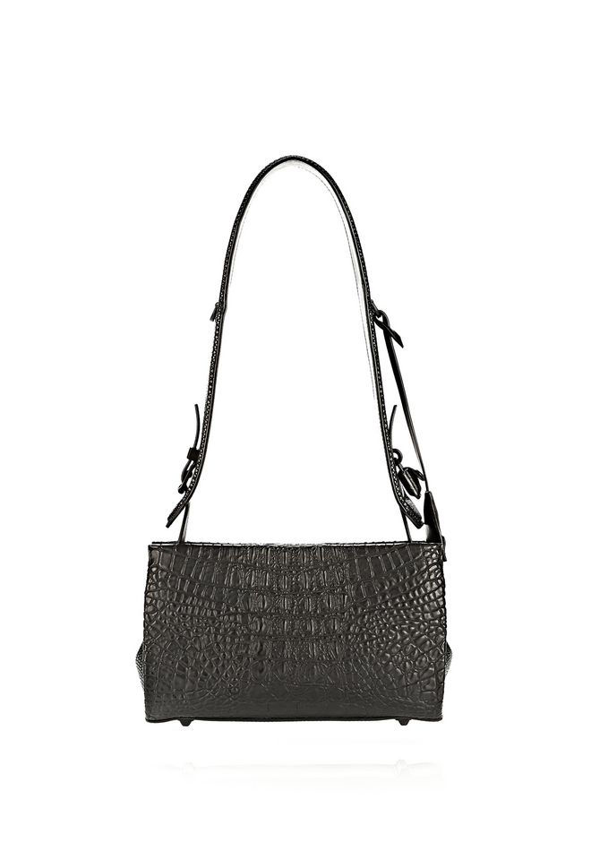 ALEXANDER WANG PELICAN SLING IN EMBOSSED MATTE BLACK WITH MATTE BLACK Shoulder bag Adult 12_n_d