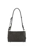 ALEXANDER WANG PELICAN SLING IN EMBOSSED MATTE BLACK WITH MATTE BLACK Shoulder bag Adult 8_n_a