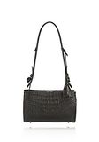 ALEXANDER WANG PELICAN SLING IN EMBOSSED MATTE BLACK WITH MATTE BLACK Shoulder bag Adult 8_n_f