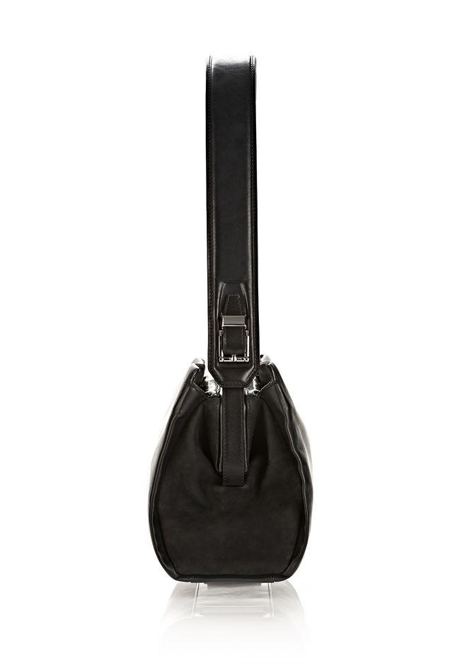 ALEXANDER WANG PELICAN SATCHEL IN BLACK WITH RHODIUM Shoulder bag Adult 12_n_d