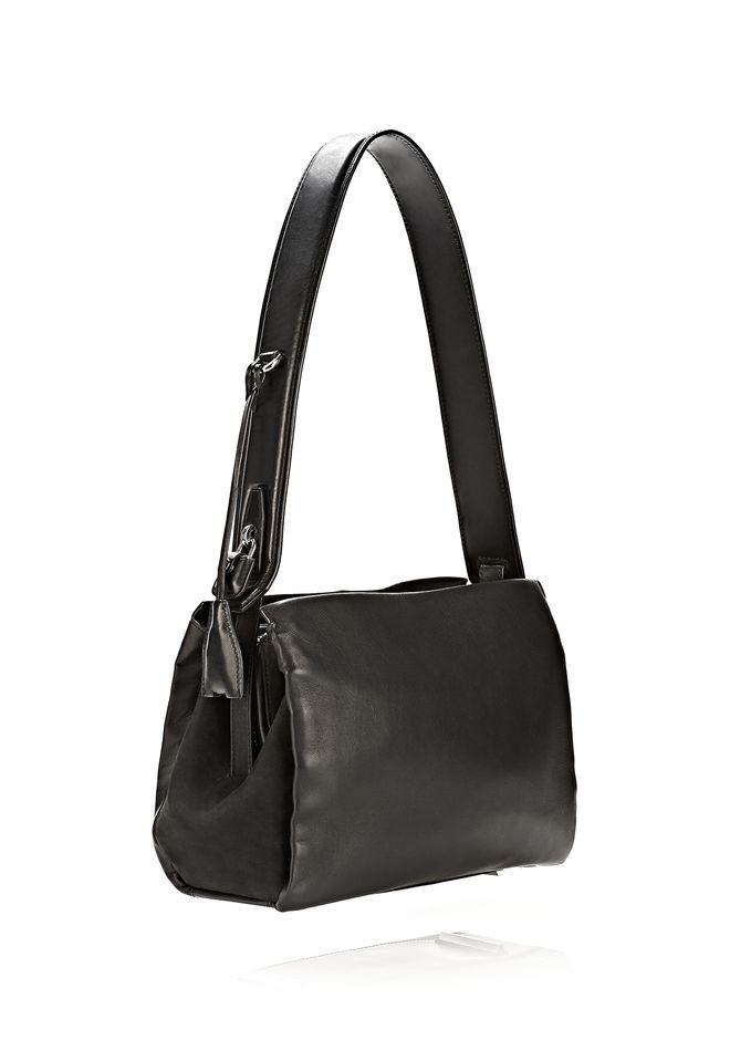 ALEXANDER WANG PELICAN SATCHEL IN BLACK WITH RHODIUM Shoulder bag Adult 12_n_e