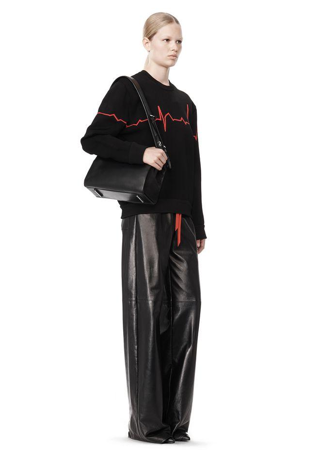 ALEXANDER WANG PELICAN SATCHEL IN BLACK WITH RHODIUM Shoulder bag Adult 12_n_r