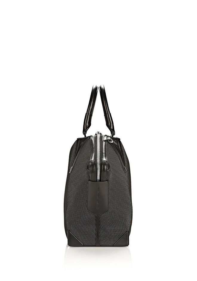 ALEXANDER WANG PRISMA EMILE TOTE IN BLACK AND WHITE NEOPRENE TOTE Adult 12_n_d