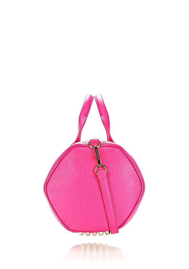 ALEXANDER WANG ROCCO IN FLAMINGO WITH PALE GOLD Shoulder bag Adult 12_n_e