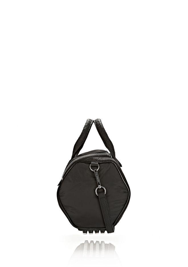 ALEXANDER WANG EXCLUSIVE ROCKIE SLING IN BLACK NYLON WITH RHODIUM Shoulder bag Adult 12_n_r