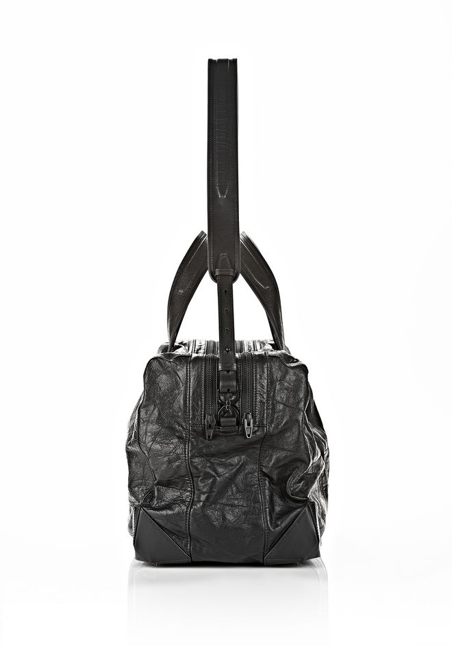 ALEXANDER WANG WALLIE DUFFLE IN WAXY BLACK WITH MATTE BLACK Travel Adult 12_n_d