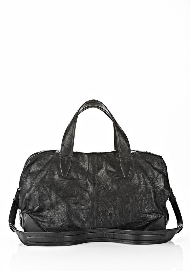 ALEXANDER WANG WALLIE DUFFLE IN WAXY BLACK WITH MATTE BLACK Travel Adult 12_n_f