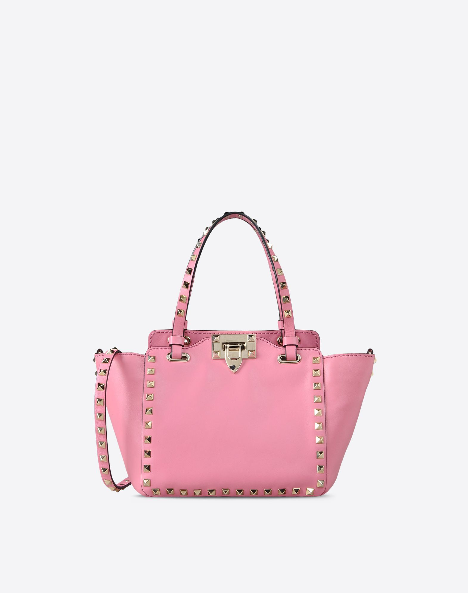 Valentino Garavani The Rockstud Leather Trapeze Bag - Blush Valentino cVcPvB
