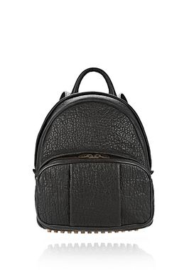 DUMBO BACKPACK IN PEBBLED BLACK WITH ANTIQUE BRASS