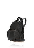 ALEXANDER WANG DUMBO BACKPACK IN PEBBLED BLACK WITH ANTIQUE BRASS BACKPACK Adult 8_n_e