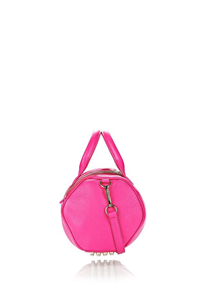 ALEXANDER WANG ROCKIE IN SOFT PEBBLED FLAMINGO WITH PALE GOLD Shoulder bag Adult 12_n_e