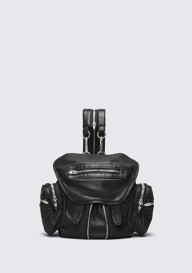 ALEXANDER WANG BACKPACKS Women MINI MARTI BACKPACK IN WASHED BLACK WITH RHODIUM