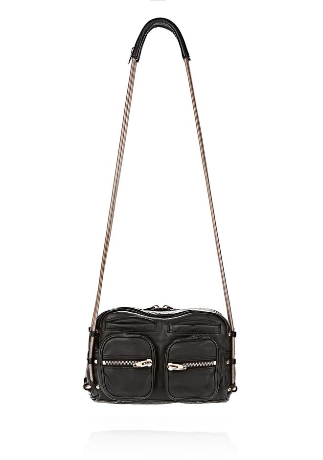 BRENDA CHAIN IN BLACK WITH ROSE GOLD | Shoulder Bag | Alexander ...