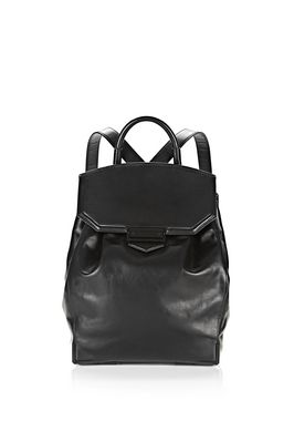 PRISMA SKELETAL BACKPACK IN BLACK WITH MATTE BLACK