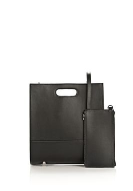 CHASTITY TOTE IN BLACK WITH RHODIUM