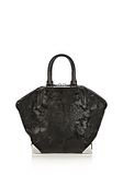ALEXANDER WANG PRISMA EMILE TOTE IN WET BLACK HAIRCALF WITH RHODIUM TOTE/DEL Adult 8_n_a