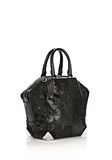 ALEXANDER WANG PRISMA EMILE TOTE IN WET BLACK HAIRCALF WITH RHODIUM TOTE/DEL Adult 8_n_e