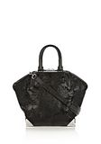 ALEXANDER WANG PRISMA EMILE TOTE IN WET BLACK HAIRCALF WITH RHODIUM TOTE/DEL Adult 8_n_f
