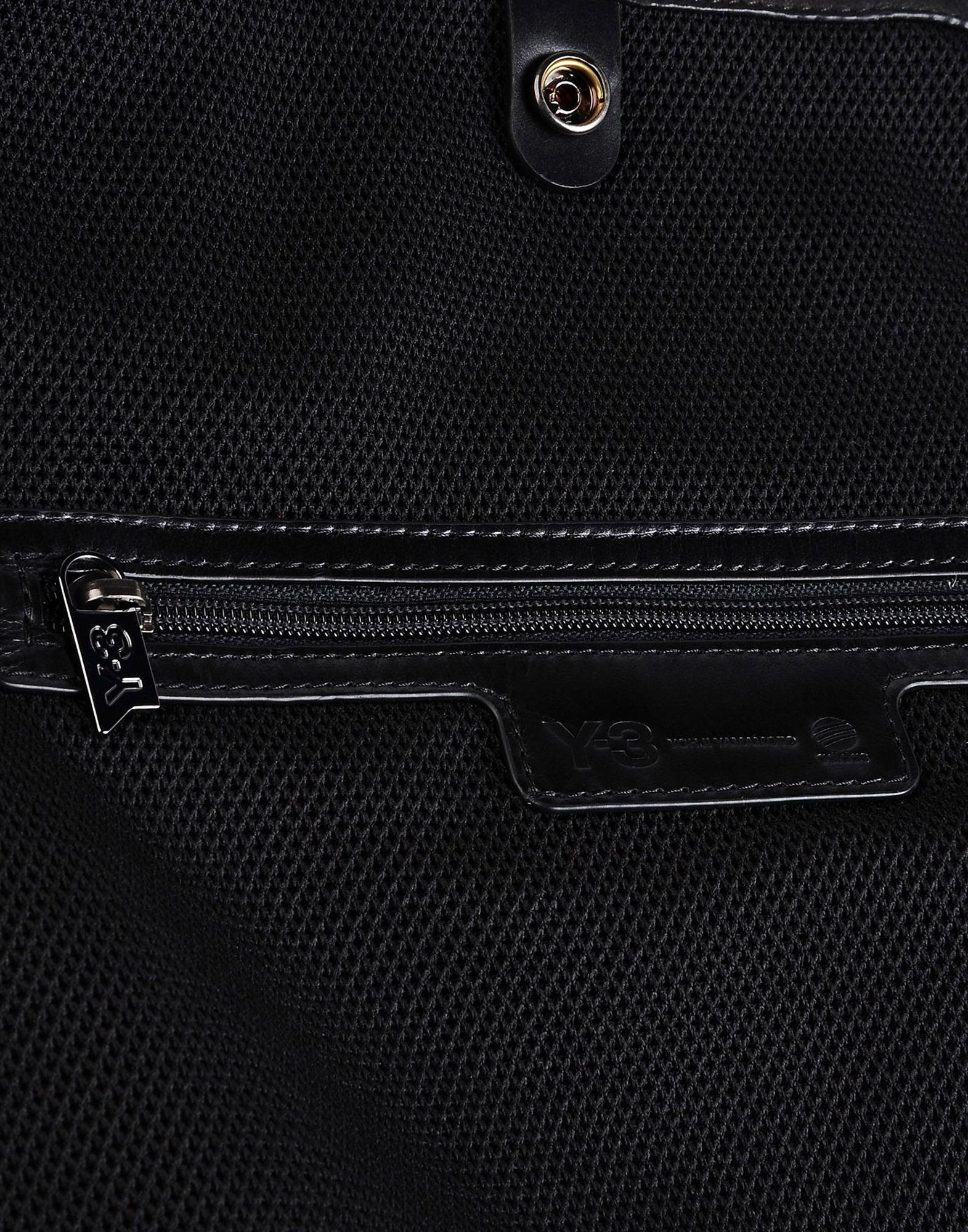 Y-3 Y-3 Toile Lthr Shldr Bag Large leather bag Woman e ... 09198ea34ab5f