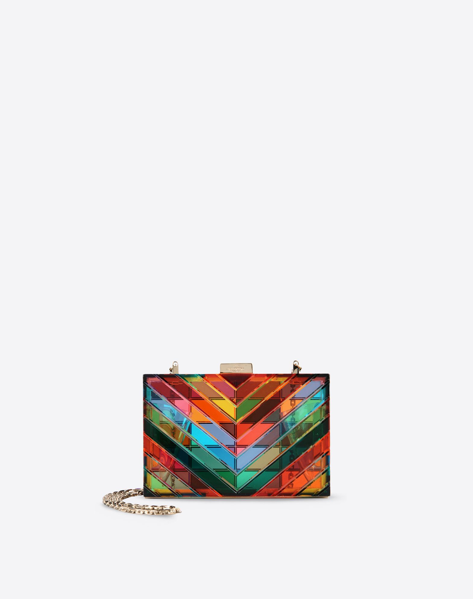VALENTINO Multicolor Pattern Framed closure Removable shoulder strap  45249556qn