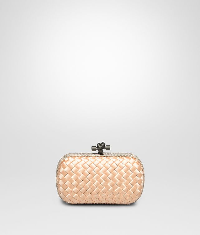 BOTTEGA VENETA KNOT IN FLAMINGO INTRECCIO IMPERO, AYERS DETAILS Clutch [*** pickupInStoreShipping_info ***] fp