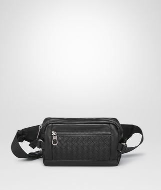 BELT BAG IN NERO INTRECCIATO CALF