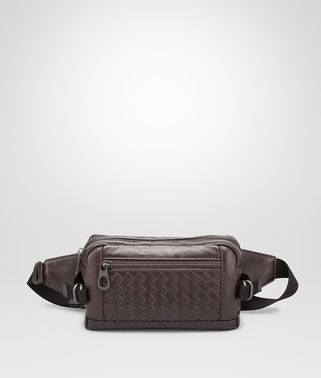 BELT BAG IN MORO INTRECCIATO CALF