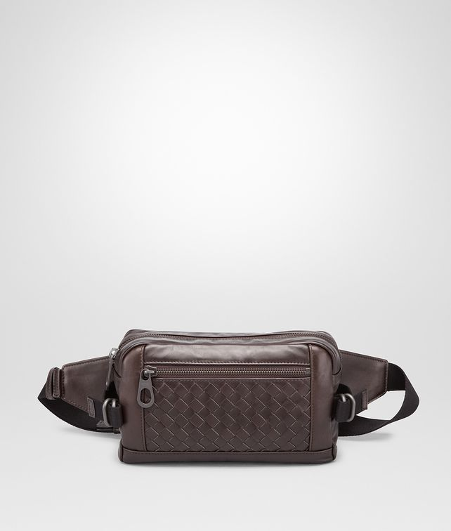 BOTTEGA VENETA BELT BAG IN MORO INTRECCIATO CALF Backpack Man fp