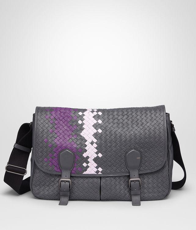 8b51392b8a BOTTEGA VENETA Medium Grey Monalisa Parme Intrecciato Washed Nappa Gardena  Bag Messenger Bag