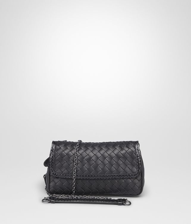 aba9085b367 BOTTEGA VENETA MESSENGER BAG IN NERO INTRECCIATO NAPPA, AYERS DETAILS  Crossbody and Belt Bags