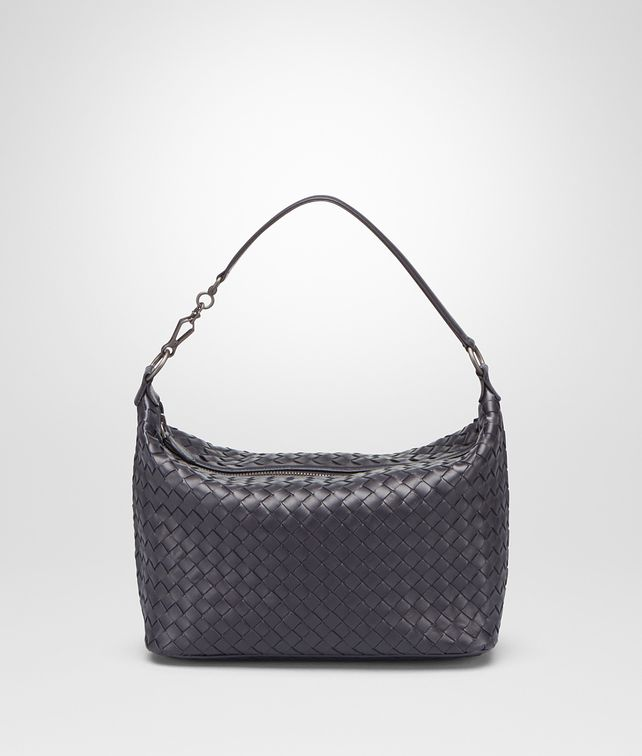 BOTTEGA VENETA SMALL SHOULDER BAG IN TOURMALINE INTRECCIATO NAPPA Shoulder or hobo bag D fp