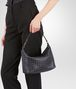 BOTTEGA VENETA SMALL SHOULDER BAG IN TOURMALINE INTRECCIATO NAPPA Shoulder or hobo bag D lp