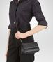 BOTTEGA VENETA MESSENGER BAG IN NERO INTRECCIATO NAPPA Crossbody bag Woman ap