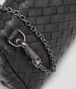 BOTTEGA VENETA MESSENGER BAG IN NERO INTRECCIATO NAPPA Crossbody bag Woman ep