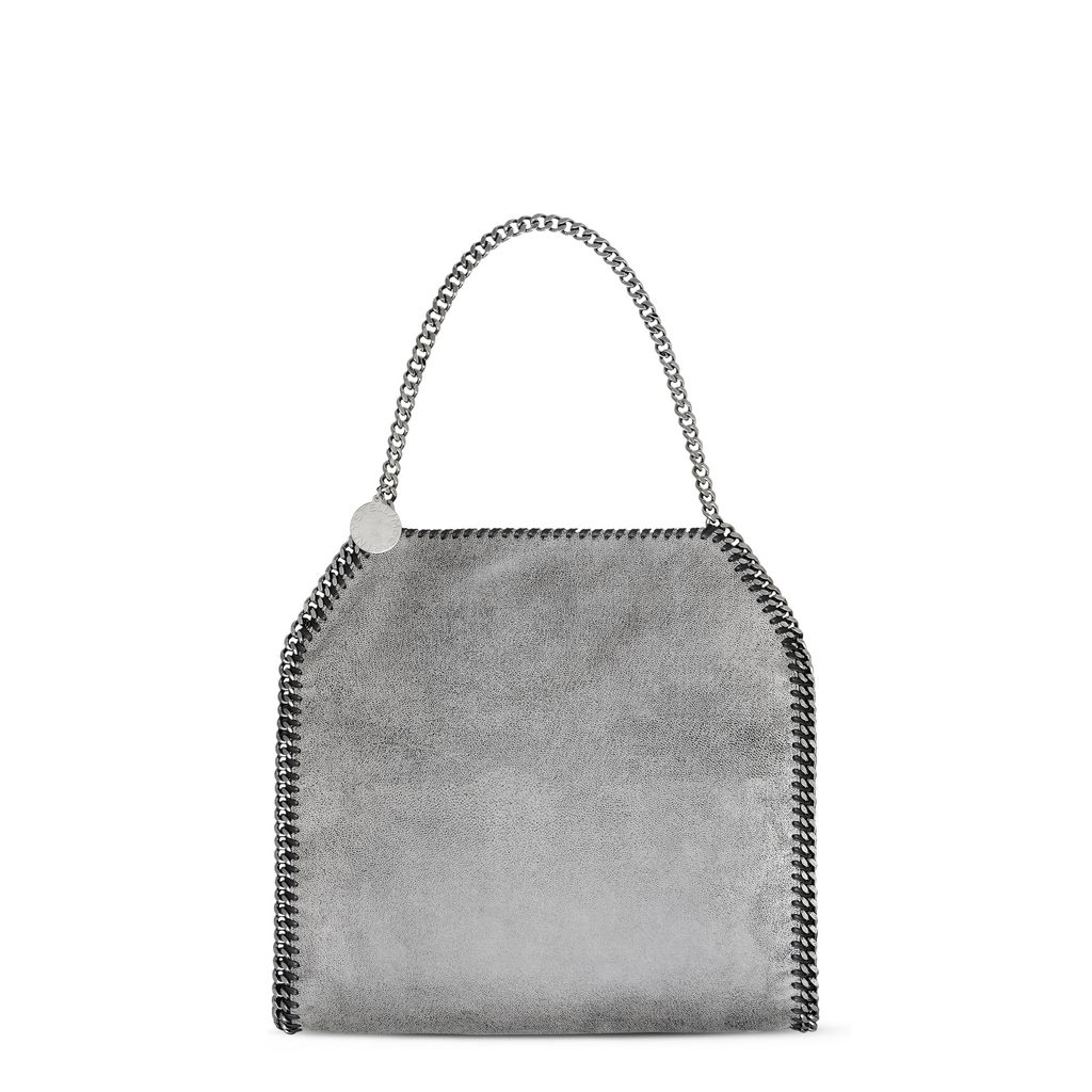 Antracite FALABELLA SHAGGY DEER SMALL TOTE - STELLA MCCARTNEY
