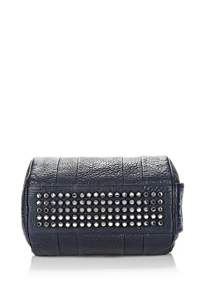 ALEXANDER WANG ROCCO IN PEBBLED NEPTUNE WITH RHODIUM Shoulder bag Adult 12_n_e