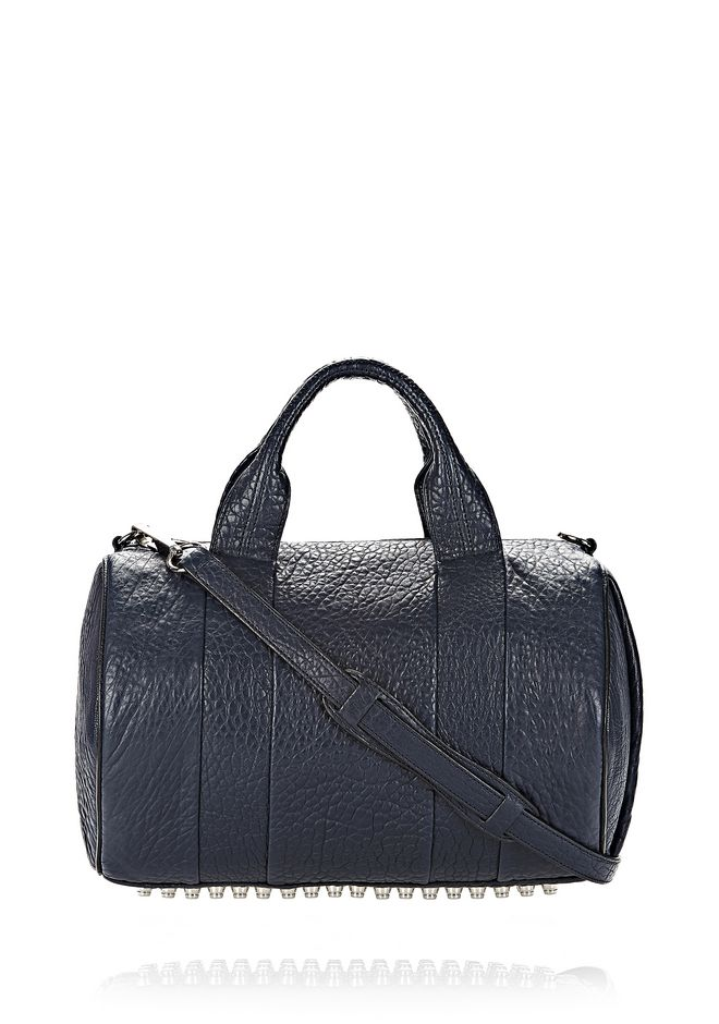 ALEXANDER WANG ROCCO IN PEBBLED NEPTUNE WITH RHODIUM Shoulder bag Adult 12_n_f