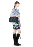 ALEXANDER WANG ROCCO IN PEBBLED NEPTUNE WITH RHODIUM Shoulder bag Adult 8_n_r