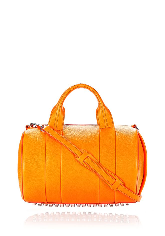 ALEXANDER WANG ROCCO IN SOFT PEBBLED FLAME WITH RHODIUM  Shoulder bag Adult 12_n_f