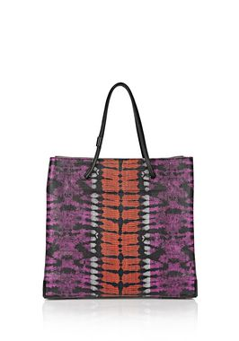PRISMA SKELETAL LARGE TOTE IN TIE DYE WITH MATTE BLACK