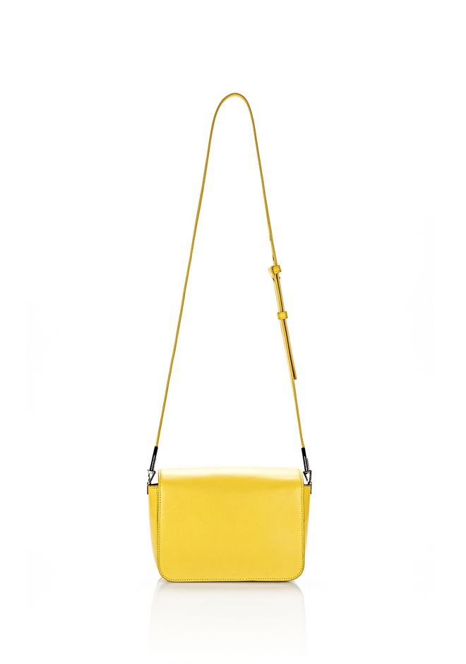 ALEXANDER WANG SMALL PRISMA ENVELOPE SLING IN SMOOTH LIMONITE WITH RHODIUM Shoulder bag Adult 12_n_d