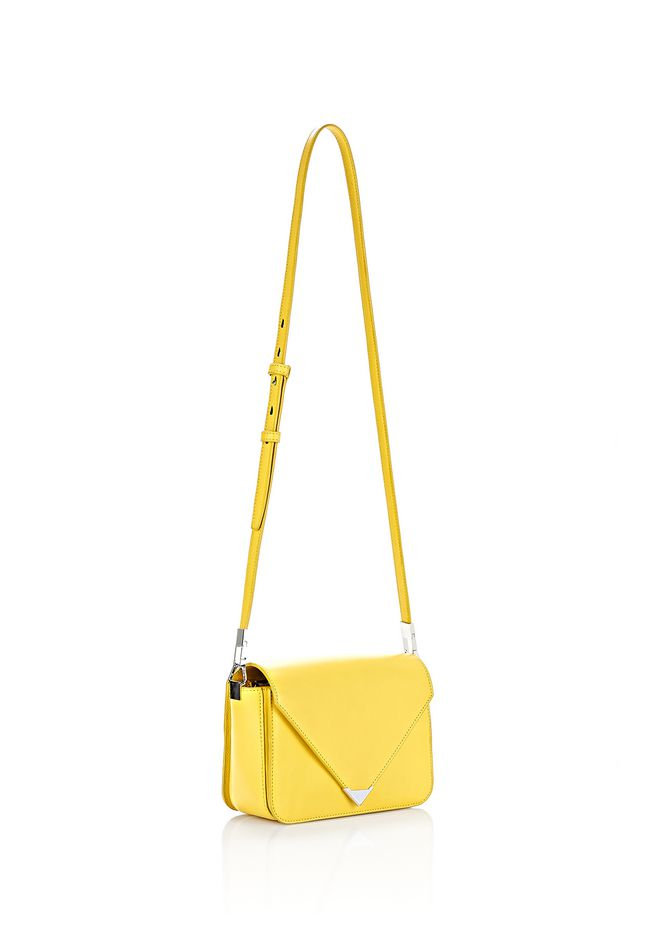 ALEXANDER WANG SMALL PRISMA ENVELOPE SLING IN SMOOTH LIMONITE WITH RHODIUM Shoulder bag Adult 12_n_e